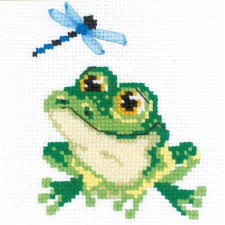Cross-stitch frog